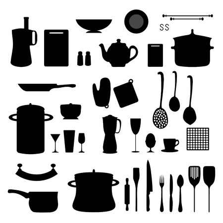 pot holder: Set of objects for the kitchen