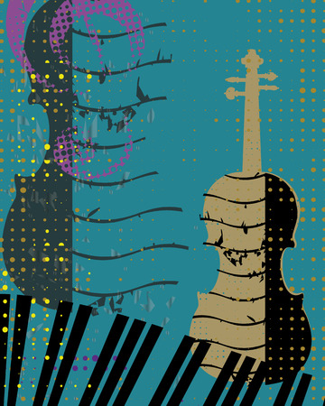 orchestral: Violin and Piano Background Illustration