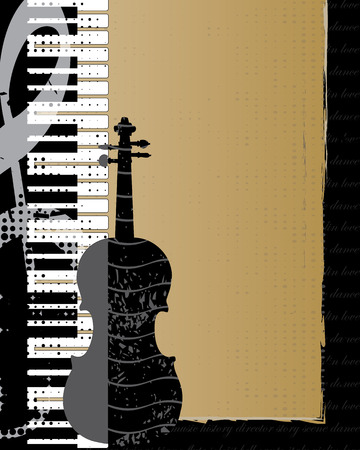 Violin and Piano Background Vector