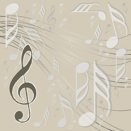 orchestral: Treble clef and musical notes