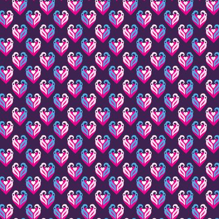 season s greeting: Hearts Pattern