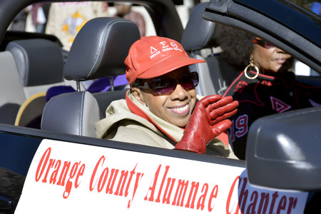 alumnae: ORLANDO FL- January 18, 2014 -  African American woman in in the car during the Martin Luther King Parade in Orlando Florida