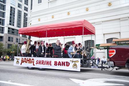 florida citrus: ORLANDO FL - December 30, 2013 -  Bahia Shrine Band at Florida Citrus Parade in Orlando Florida Editorial