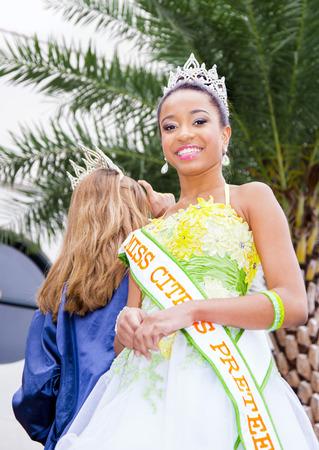 florida citrus: ORLANDO FL - December 30, 2013 -  Miss Citrus at Florida Citrus Parade in Orlando Florida