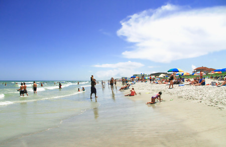 COCOA BEACH, FL - June 21, 2014 - People on vacantion at Cocoa beach Florida