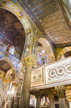 palermo   italy: Palatine Chapel in Palermo, Italy Editorial