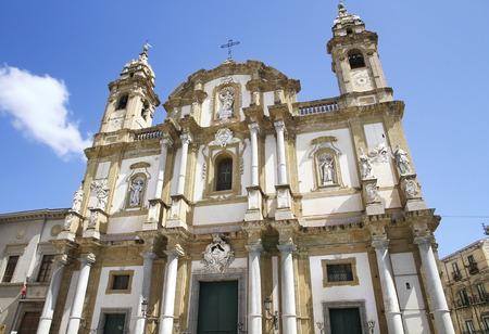 palermo   italy: Exterior of San Domenico Church, Palermo, Italy Stock Photo