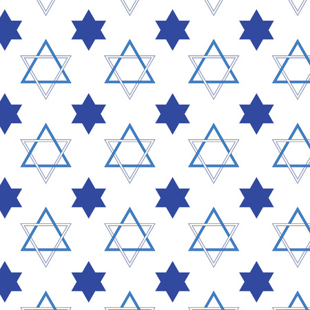 jewish star: Jewish star shape pattern on vector background