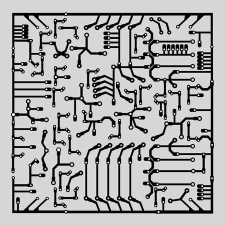 mainboard: Mainboard background, vector illustration.