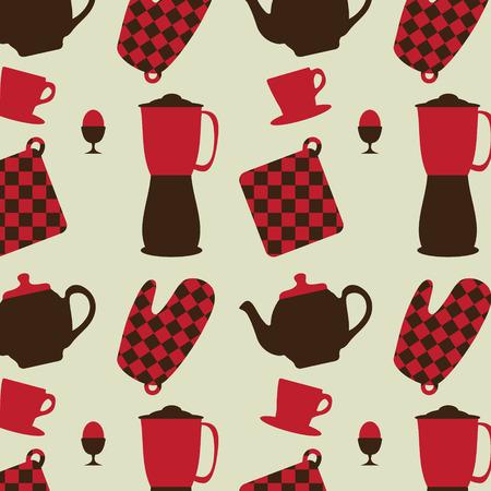 breackfast: Breackfast pattern, vector illustration Illustration