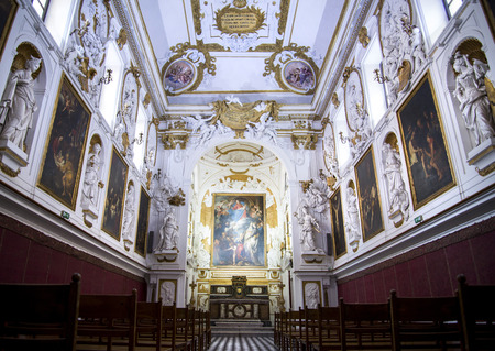 places of interest: SS Rosario Oratory in Saint Dominic in Palermo Sicily Italy