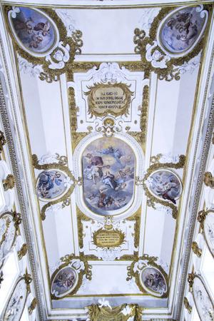 fineart: Detail in the church of SS Rosario in San Domenico in Palermo Sicily