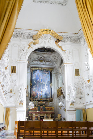 palermo   italy: View in Saint Cita Oratory in Palermo Italy Editorial