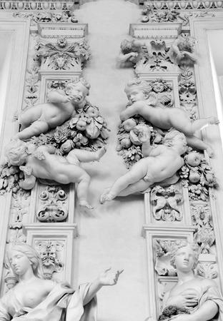 oratorio: Dettaglio architettonico nel San Cita Oratorio a Palermo Sicilia