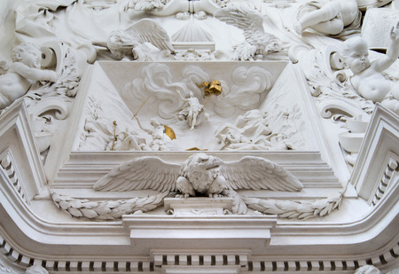oratory: Architectural detail into the Saint Cita Oratory in Palermo Sicily
