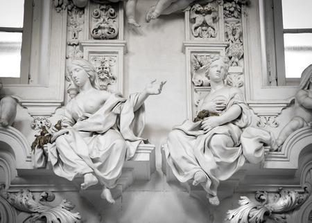 oratoria: Detalle arquitectónico en el Oratorio San Cita en Palermo Sicilia
