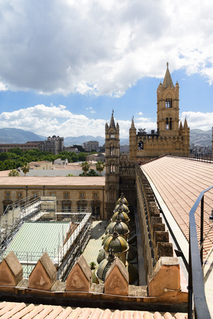 palermo: The Cathedral of Palermo, Sicily, view from the roof.