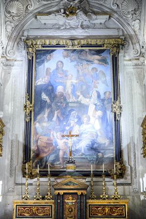 fineart: Interior of Santa Cita Oratory Palermo in Sicily, Italy