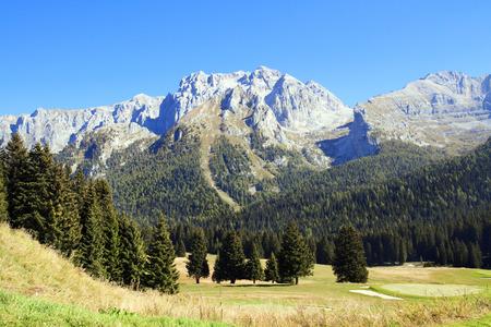 carlo: Campo Carlo Magno, mountain pass in Trentino-Alto Adige, Italy. Stock Photo