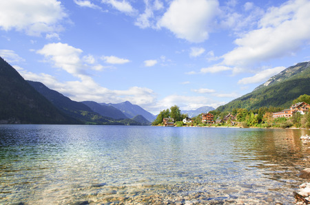 amenities: View from the shore of the Lake Grundlsee, Salzkammergut, Austria.