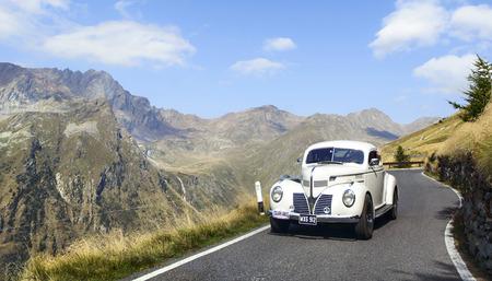 gavia: STEP GAVIA, ITALY - September 1, 2015 - The Italian Lakes Classic Rally, Italy.