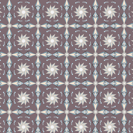 abstract flowers: Abstract flowers on seamless pattern.
