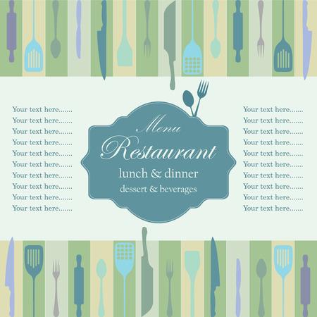 side menu: Restaurant menu design (one double side), vector illustration. Illustration