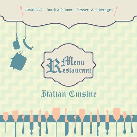 side menu: Restaurant menu design (one side), vector illustration.