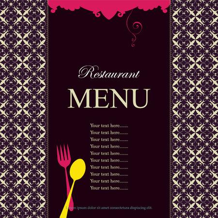 ilustration: Restaurant menu cover, vector illustration. Illustration