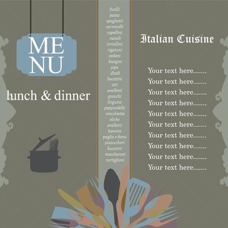 article: Restaurant menu design, vector illustration.