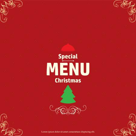 christmas menu: Christmas menu design, vector illustration.