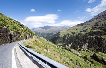 Gavia mountain pass, Lombardy, Italy. Stock Photo
