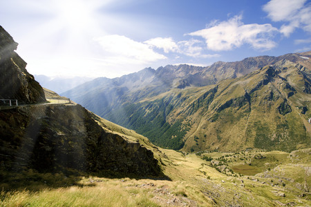 gavia: Gavia mountain pass, Lombardy, Italy. Stock Photo