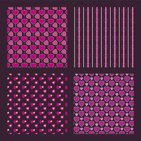 st  valentine: St. Valentine pattern, vector illustration. Illustration