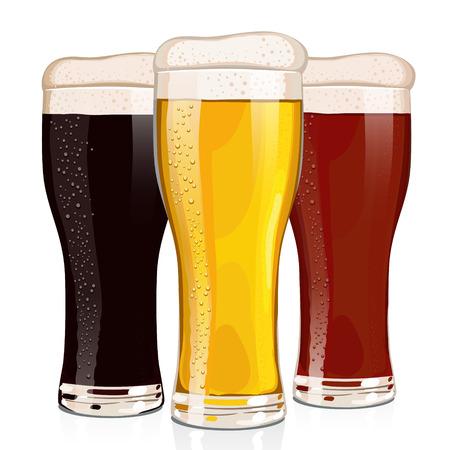 cerveza negra: Los diferentes tipos de cerveza, cerveza dorada, tostadas cerveza y cerveza negro