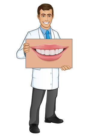 sympathetic: Sympathetic dentist, you have a poster shows a mouth