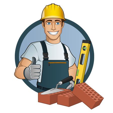Człowiek z różnymi narzędziami