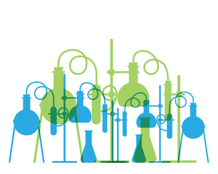 Vector based on a chemistry lab, abstract background