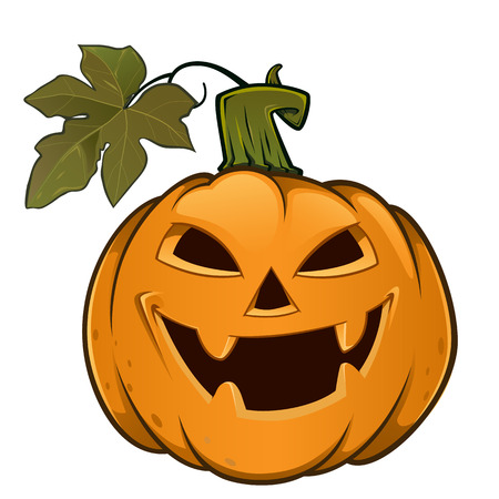 evil face: Pumpkin with evil face, this is used for Halloween Illustration