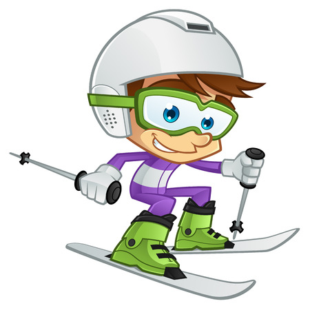 Child friendly skiing, I is dressed in skiwear