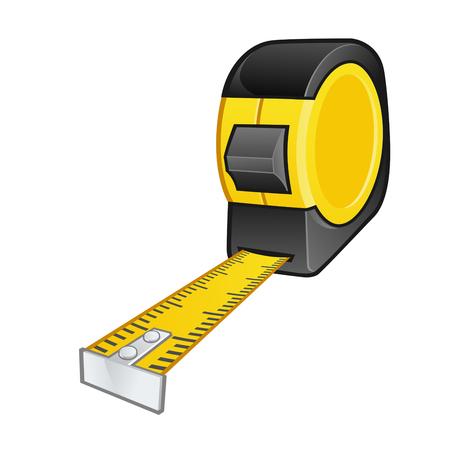 cinta metrica: una cinta métrica en el fondo blanco Vectores
