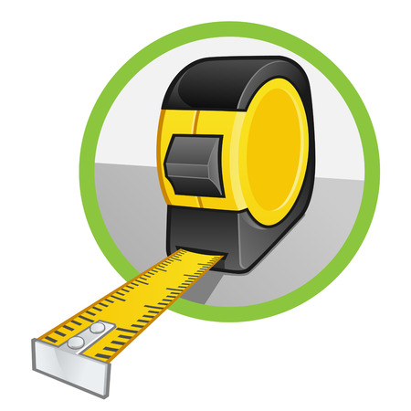 a tape measure on white background