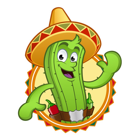 sympathetic: Sympathetic cactus, wearing a typical Mexican hat