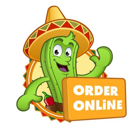 sympathetic: Sympathetic cactus with a button Where it says online order