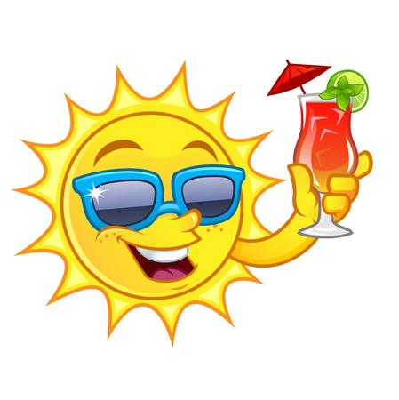 太陽の描画がおかしい、私はさわやかな飲み物があります。