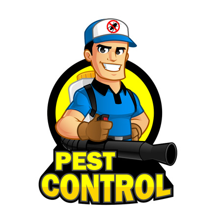 extermination: Worker with equipment pest extermination