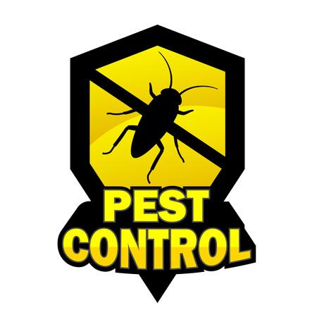 extermination: Pest control   on white background Illustration