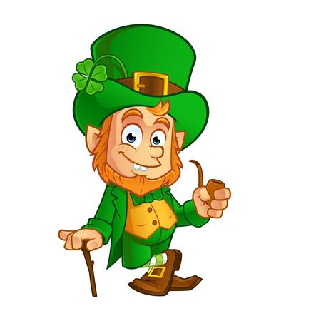 Leprechaun, illustration vectorielle de la Saint-Patrick