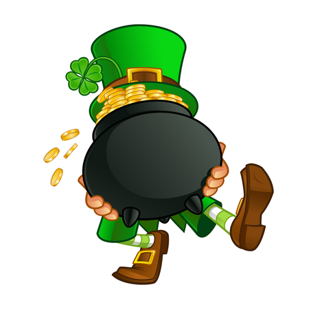 Leprechaun, vector illustration of St. Patricks Day