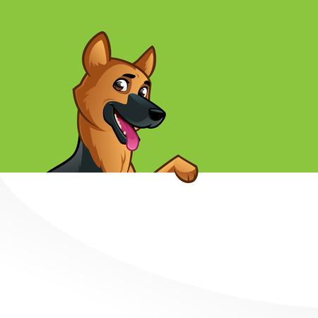 pedigreed: Friendly dog of the German Shepherd breed. Illustration